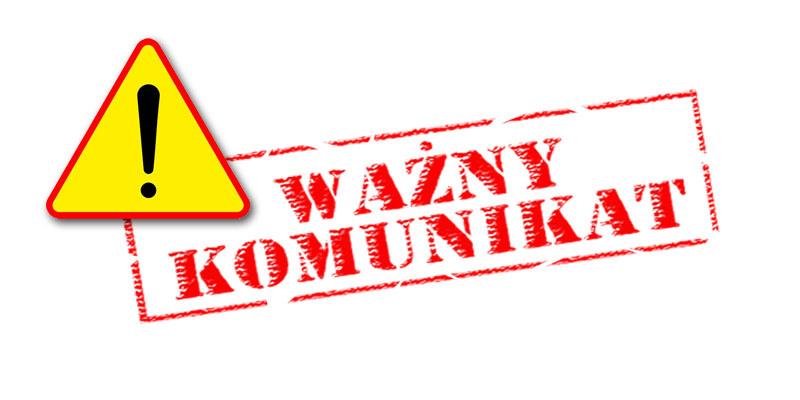 Komunikat Dyrektora z dnia 18.09.2020r.